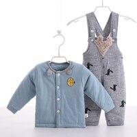 Baby Girls Boys Winter Clothing Sets Children Cotton Jackets Kids Snowsuit Warm Baby Ski Suit Down