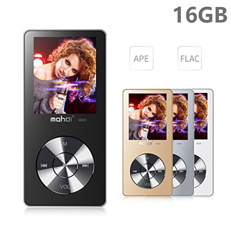 Original HiFi MP3 Player with Speaker Metal APE/FLAC/WAV High Sound Quality 16GB Entry-level Lossless Music Player with FM Radio