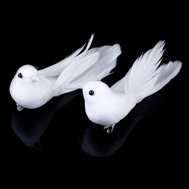 2pcs/set Artificial Foam Feather Lifelike Beads Simulation Bird DIY Party Crafts Ornament Props Home Garden Wedding Decoration 1