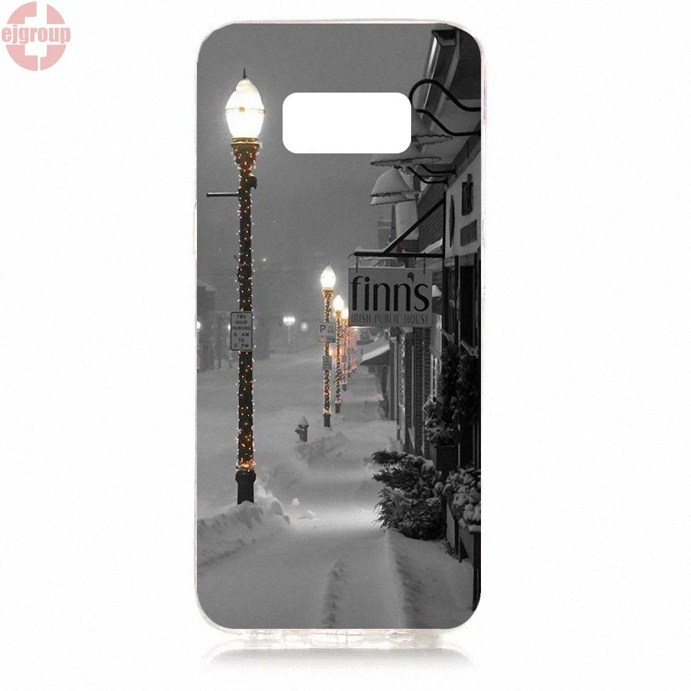 EJGROUP Soft TPU Silicon Pattern Phone For Samsung Galaxy S8 5.8 inch G950 G950F SM-G9500 Let It Snow