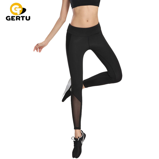 Fitness Leggings Nl: 2017 Nieuwe Vrouwen Mesh Zwart Transparant Comfortabele