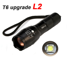 Professional E17 CREE XM-L2 8000LM tactical cree led Torch Zoom cree LED Flashlight Torch light For AAA or 1x 18650 rechargeable цена 2017