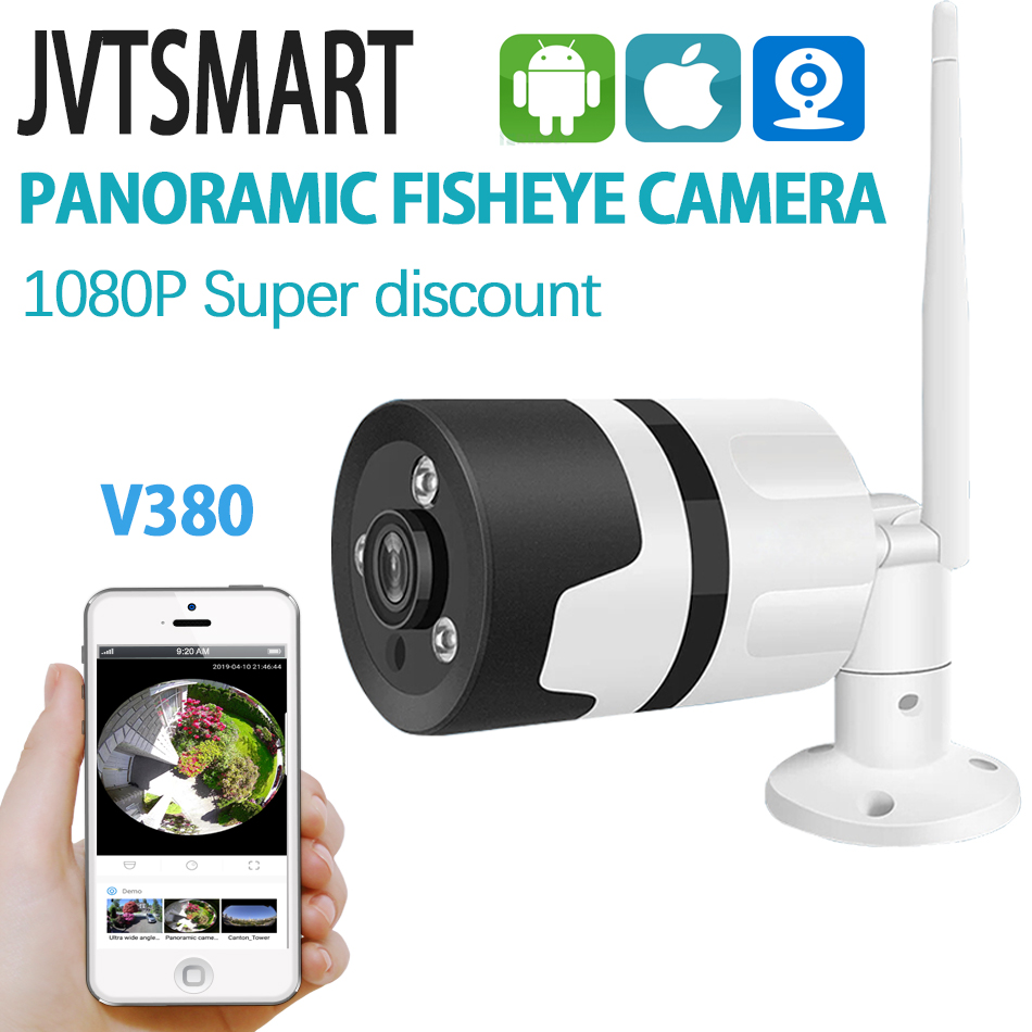 Outdoor Wireless Wifi Fisheye camera Panoramic CCTV Camara wifi 1080P 360 Bullet Mobile phone metal Security