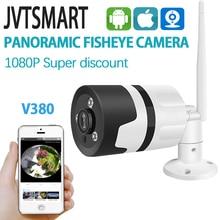 야외 무선 와이파이 fisheye 카메라 파노라마 cctv camara 와이파이 1080 p 360 총알 휴대 전화 금속 보안 카메라 v380
