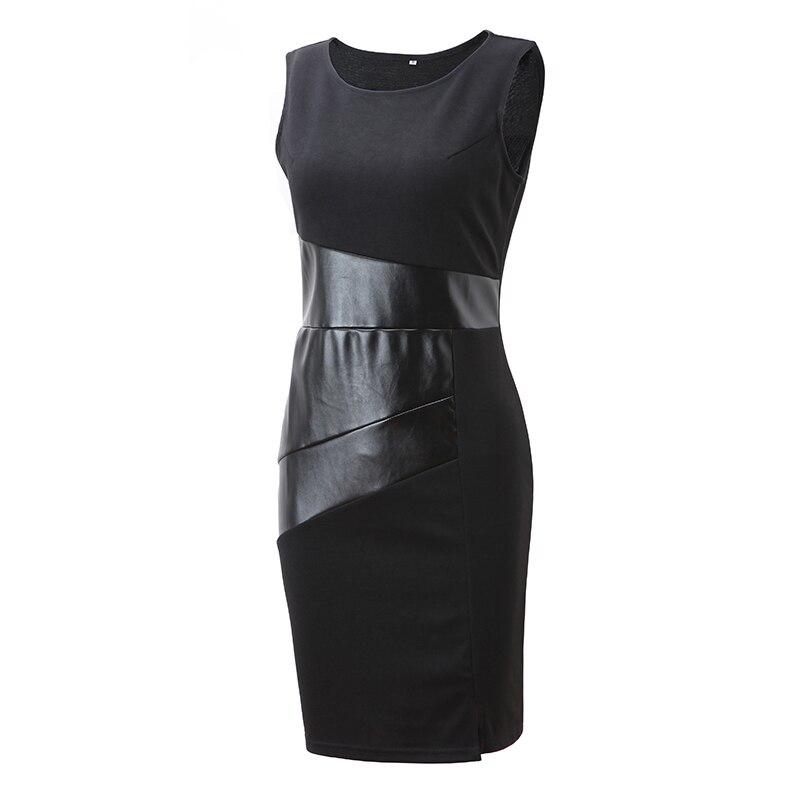 Sishot 2018 Summer Dreess Womens Sleeveless Tank Black Dress Office lady Party Dress vestidos de fiesta Cotton mini dresses