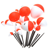 14Pcs/Set Polystyrene Fishing Floats with Sticks Professional Fish Float Outdoor Sea Fishing Accessory