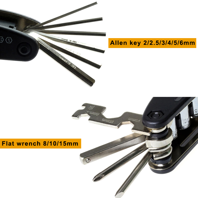 bike tool special 2 cone wrenches 15mm 4,5,6 and set of allen wrenches