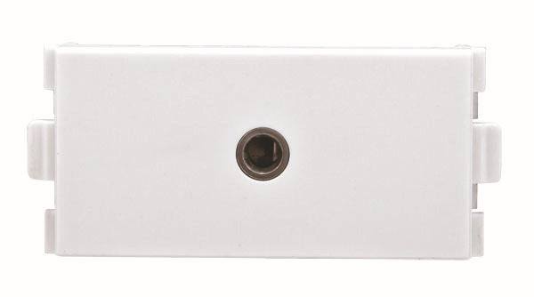 Headset Wand Platte 3,5mm Stereo Audio Wand Gesicht Platte Steckdose 3,5mm Jack Modul 207 Weiß Kunststoff Wand Platte