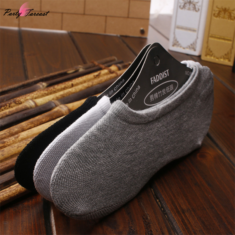 5pairs Mens Short Socks Casual Breathable Black Nylon Sox for Men Summer Fashion Male Sock Slippers calcetines hombreh Meias