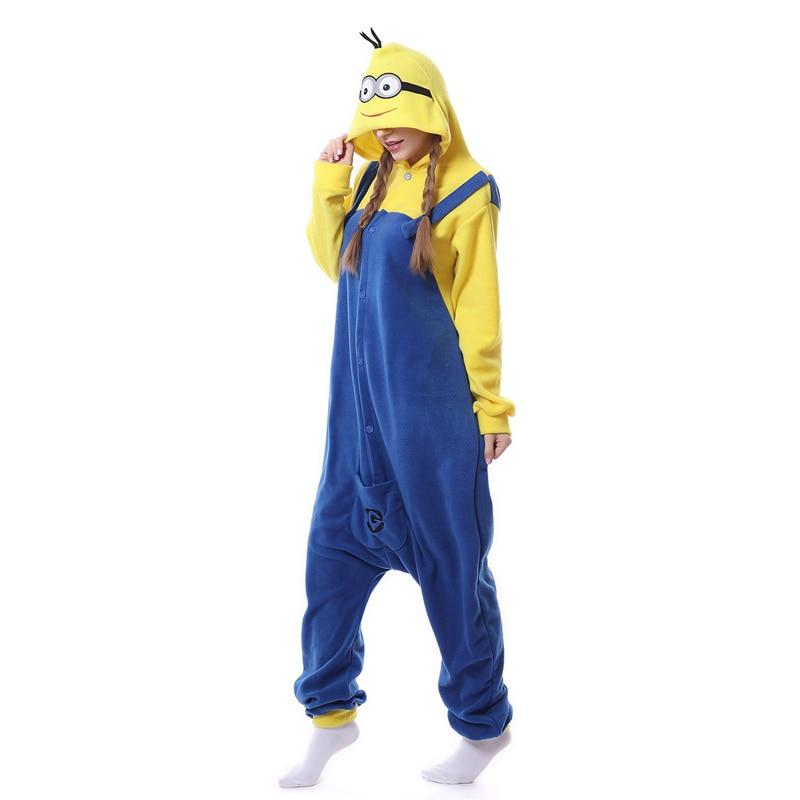 New Yellow Minions Costume Women Pajamas Kid Adult Hot Sale Anime Cos Pyjama Party Female Sleepwear Minion Onesies For Child M