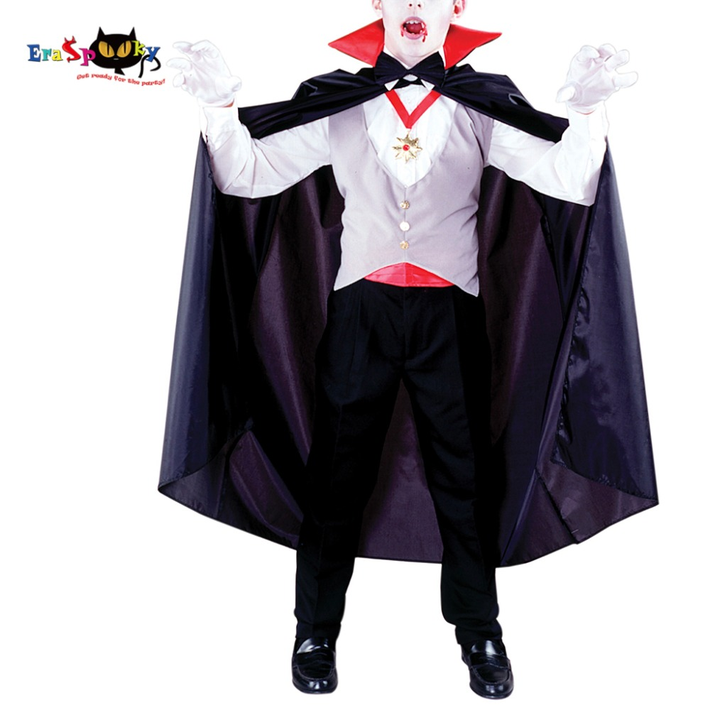 Boys Vampire Costume Classic Halloween Scary Costume For Kids Dracula Fancy Dress Outfit Gothic Children Carnival Cosplay Be Novel In Design