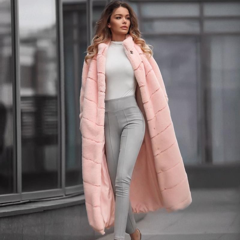 Veste manteau rose