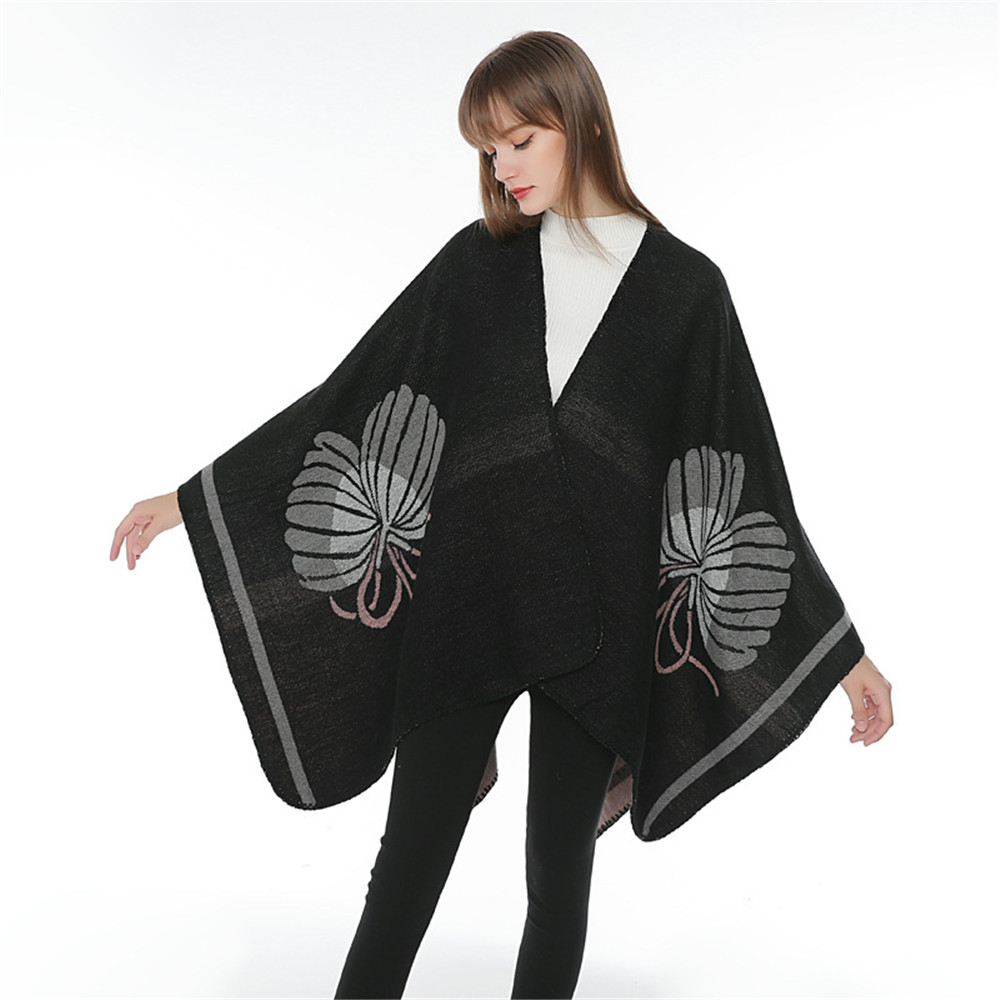 The New medieval Retro Women Winter Knitted Cashmere Poncho Capes Shawl Cardigans Sweater Coat winter keep warm scarves cloak