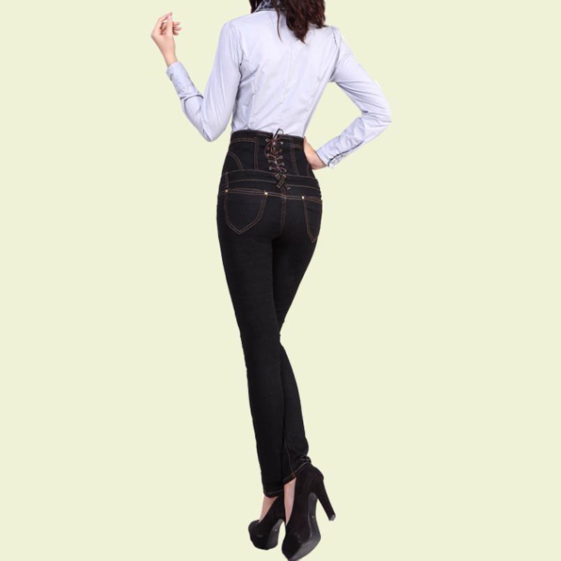 Black Mujeres Mezclilla Visnxgi Azul Pantalones k062 Terciopelo Skinny Blue Cintura Y K062 De Invierno Largos Alta Las Mujer Negro Cálido Espesar Jeans 5qqgHwS