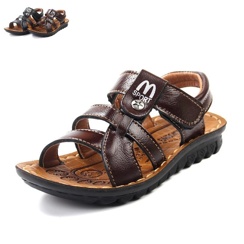 b3a934c0b09 Boy Sandals Kids Children Shoes Cow Leather Girls Sandals Summer Kids Shoes  2018 Boys Sandals Outdoor Girls Flat Shoes