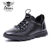 Desai Men Shoes Genuine Leather Luxury Brand Italian Designer Men S Casual Trainers Shoes Slip On