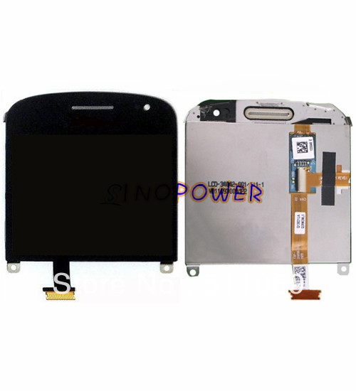 ФОТО 100% original & new lcd screen with black touch screen digitizer assembly for BlackBerry Bold 9900 001 by DHL EMS;5pc/lot