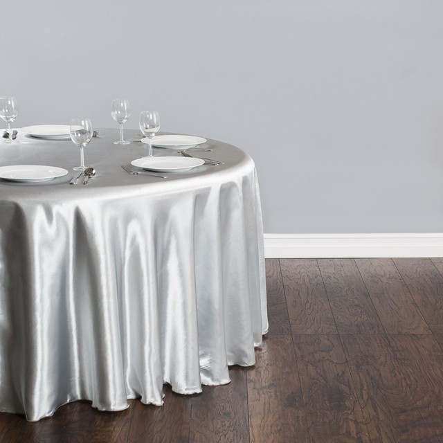 Superieur Free Shipping 10pcs Cheap Silver 90u0027u0027 Round Satin Table Cloth Banquet Table  Cover Wedding