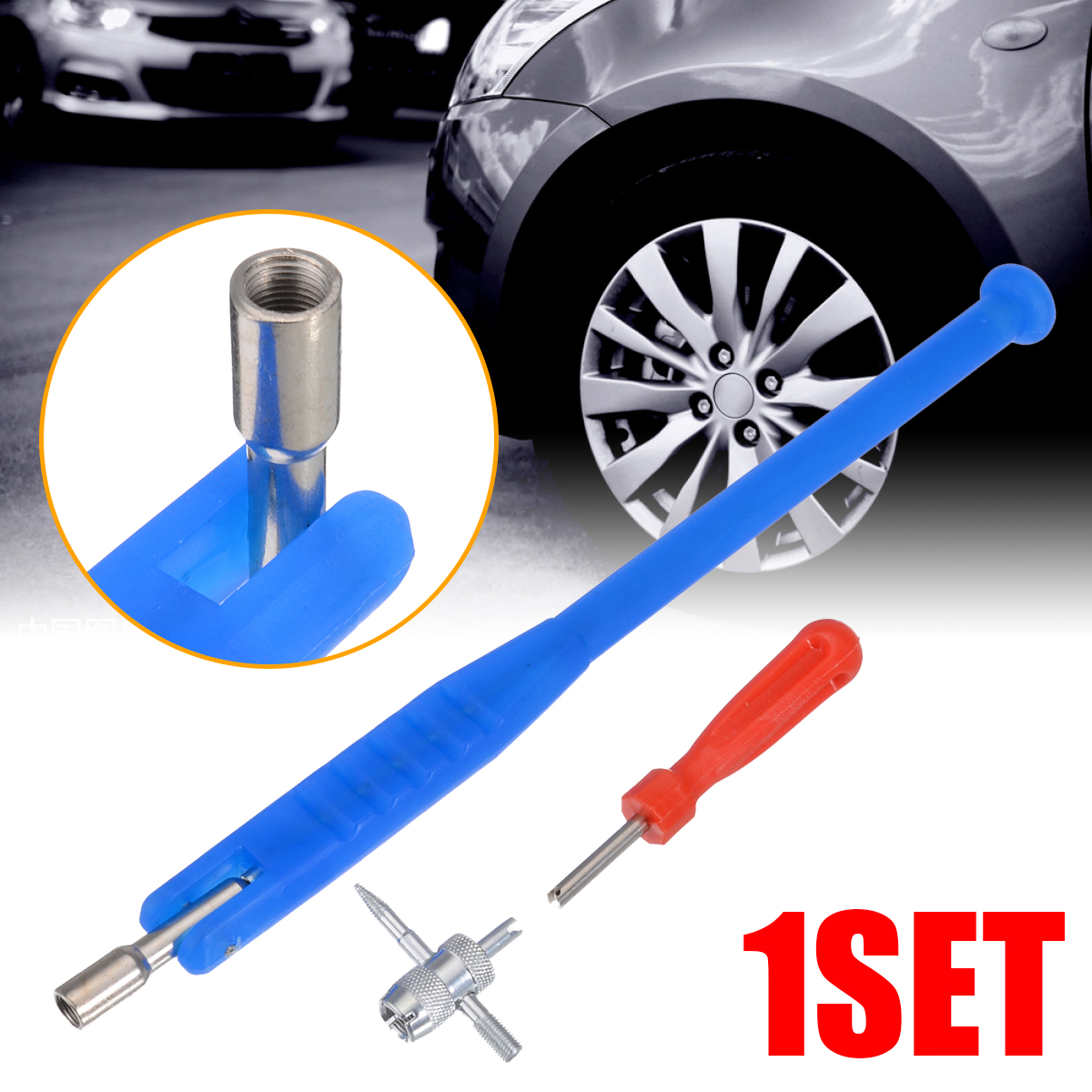 3PCS Valve Stem Core Remover Car Truck Tire Repair Installation Removal Tools
