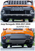 Voiture PARE-CHOCS Plaque Pour Jeep Renegade 2016.2017.2018 PARE-CHOCS GARDE de Haute Qualité En Acier Inoxydable Avant + Arrière Auto Accessoires
