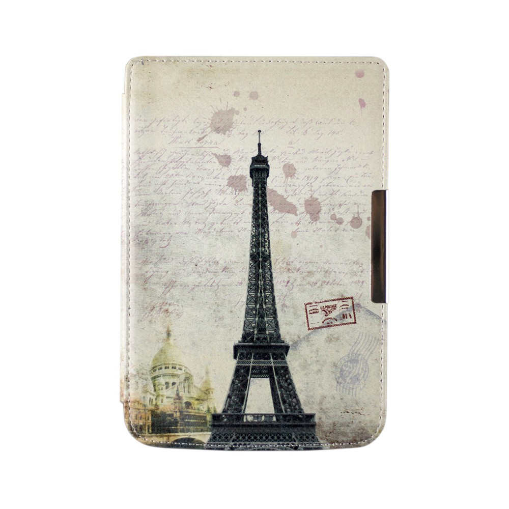 Folio PU leather cover case Magnetic art slim painting cover case for PocketBook mini 515 ereader+stylus pen as gift high quality faux leather stand cover case for pocketbook touch 622 623 624 626 ebook ereader