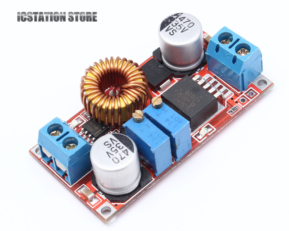 5A DC to DC CC CV Lithium Battery Step down Charging Board Led Power Converter Lithium Charger Step Down Module Red 30a 3s polymer lithium battery cell charger protection board pcb 18650 li ion lithium battery charging module 12 8 16v