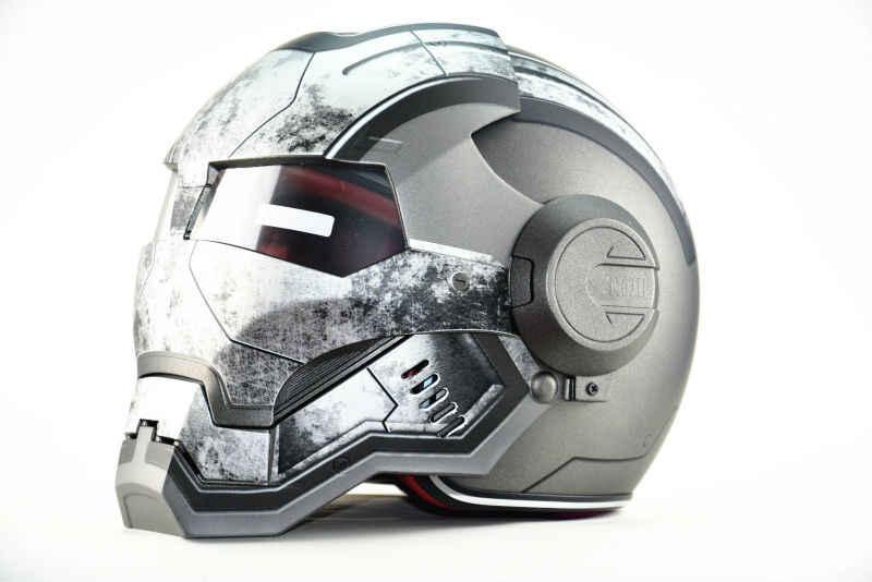 Masei War Machine gris hombres mujeres IRONMAN Iron Man casco motocicleta medio casco de cara abierta casco ABS casque motocross