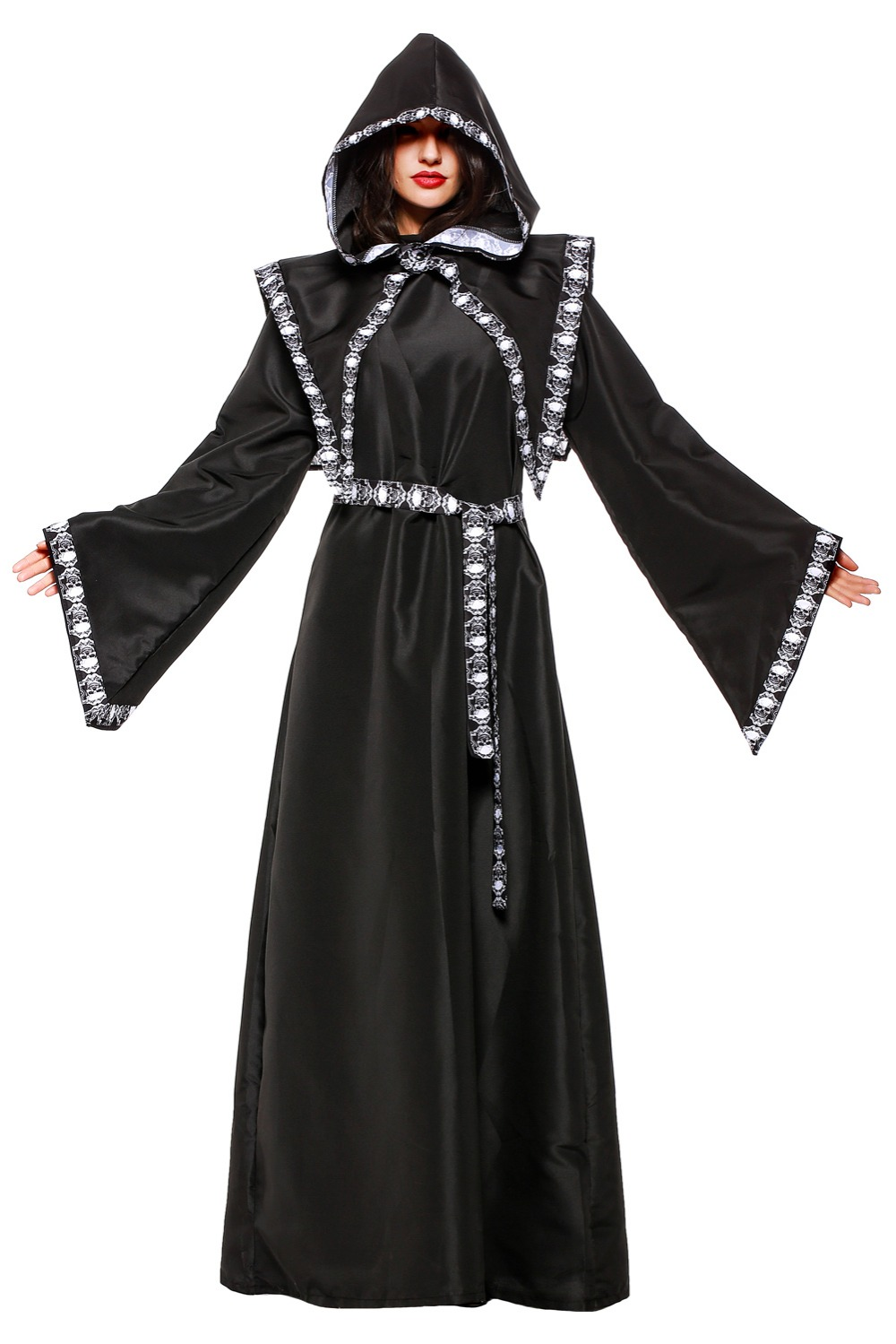 Halloween costumes for Adult men and women BLEACH Saturn Cosplay Costume Play dance party horror zombie wizard Costume Black