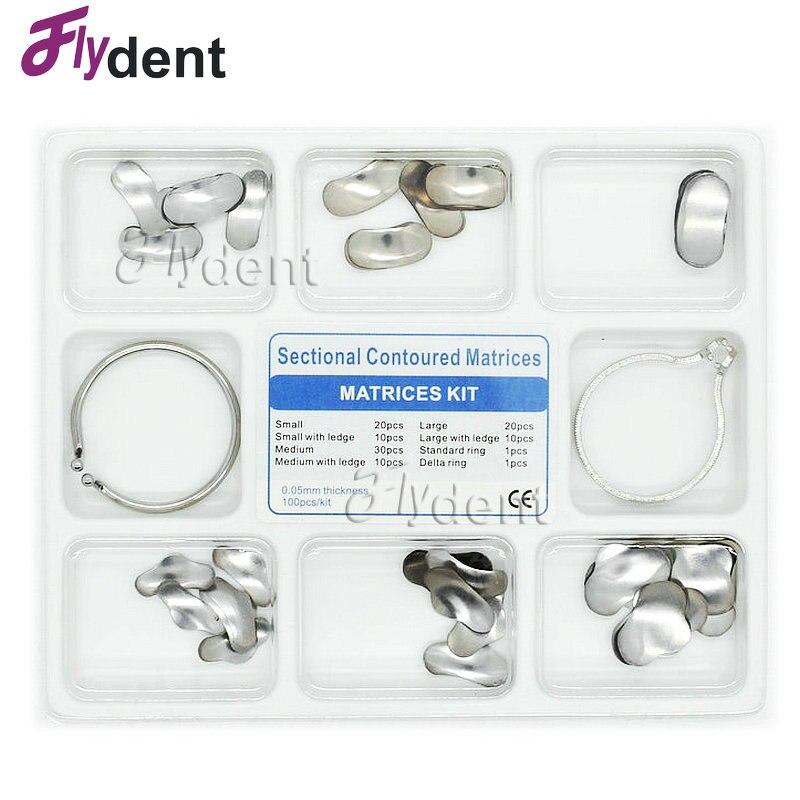 dental metal matrices 100Pcs Dental Matrix Sectional Contoured Metal Matrices No.1.398 туфли ecco contoured