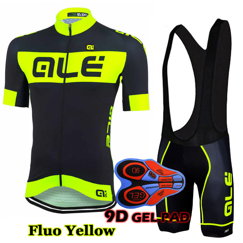 9D Gel Pad Pro Cycling Jersey Set ALE Cycling Kit Ropa Ciclismo Bicycle Wear Suit High Quality Bike Wear Men Summer Bike Wear