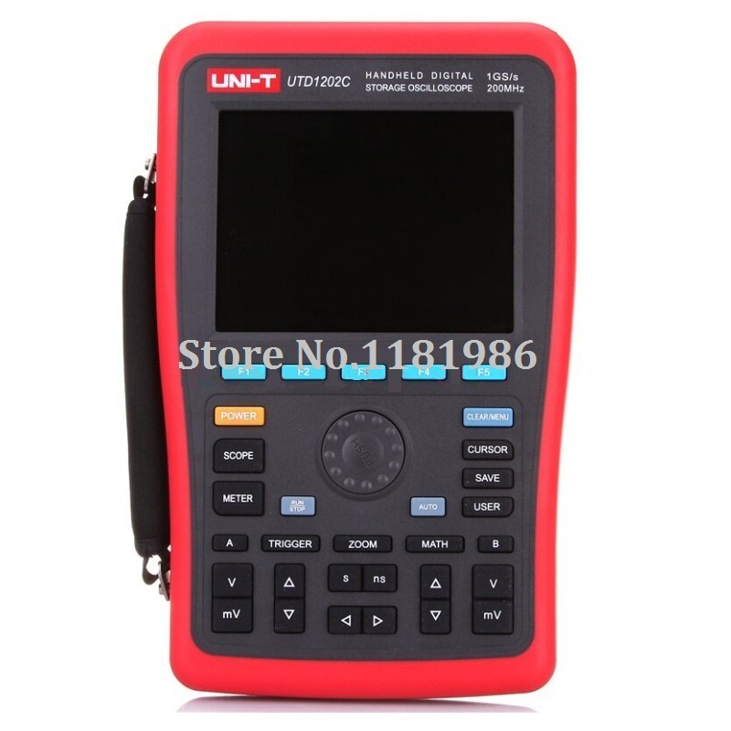UNI T UTD1202C 2 Channel 200MHz 1GS s Handheld Digital Storage Oscilloscope Oscillograph with Multimeter