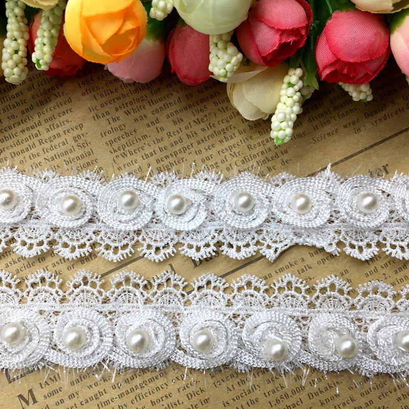 Купить 1 ярд крючком ленты цветы жемчужные кружева край отделка лентами  бисером кружевной ткани вышитые Швейные свадебное платье одежда Продажа  Дешево e5e46cd6cb35a