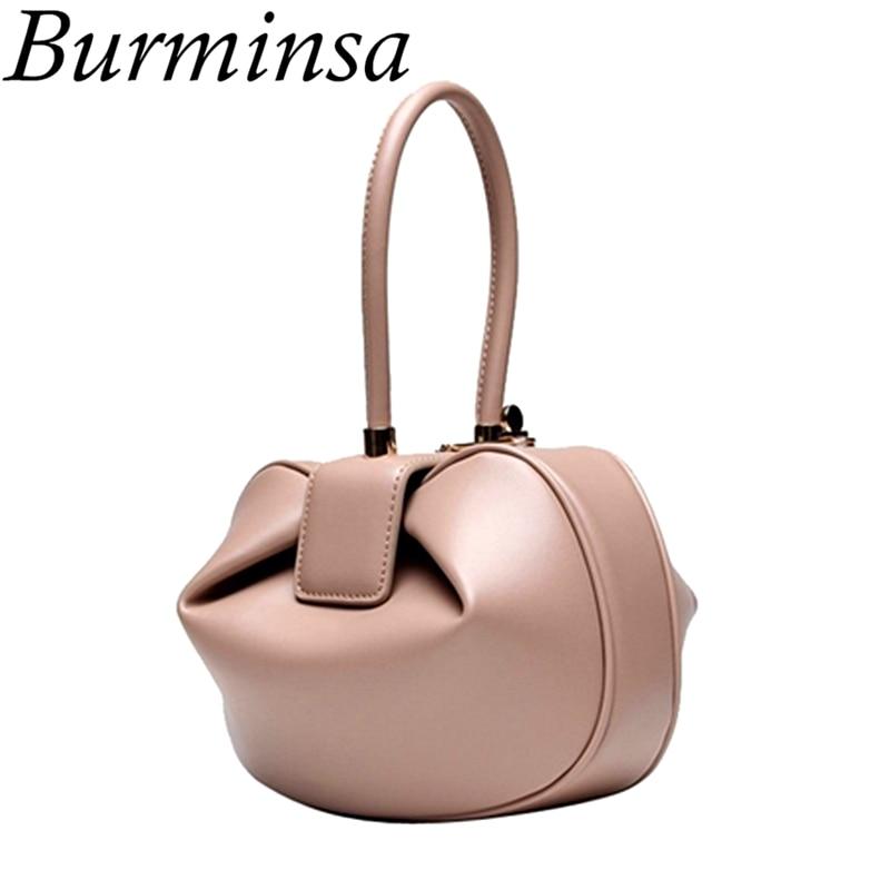 Burminsa Для женщин из натуральной кожи сумки hobo маленькие сумки для девочек элегантные Сумки дизайнерский бренд высокое качество женские вече...