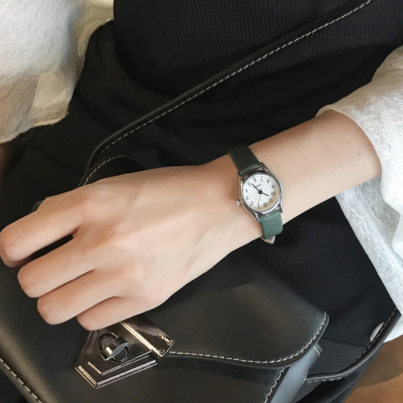 Small dial brief style women watches Korean version casual q