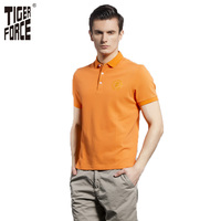 TIGER FORCE 2016 New Collection Men Fashion Polo Shirt Solid Breathable European Size Polo Shirt S