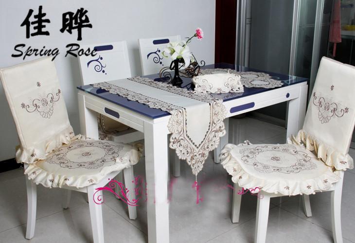 Frhling Stieg 010 Stickerei Tischwsche Land Wohnzimmer Lavendel Tischdecken