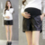 2017 de primavera y verano nuevas mujeres embarazadas pantalones cortos pantalones versión Coreana de las mujeres embarazadas pantalones cortos de cuero ropa exterior