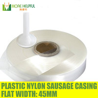 100 meters , Flat Width 45mm,diameter 28mm nylon Sausage casing,plastic sausage cover, sausage skin,home use free shipping,