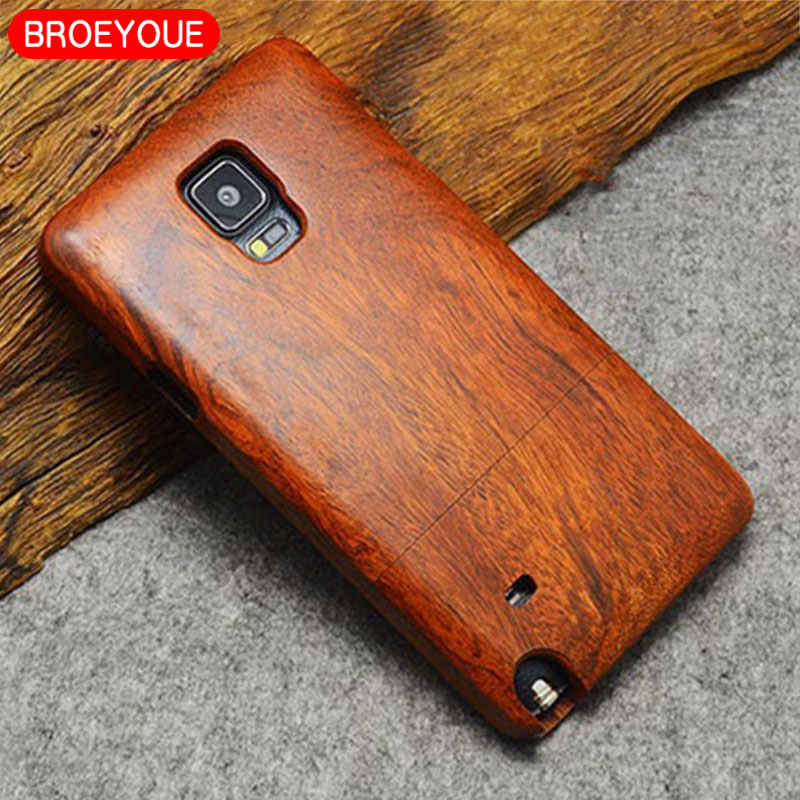 BOREYOUE Case For Samsung Gaxaly S5 S6 S7 S8 S9 Edge Plus Bamboo Carving Design Wood Cases For Samsung Gaxaly Note 3 4 5 8 Case
