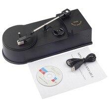 Mini platine vinyle Portable USB platine vinyle à convertisseur MP3/WAV/CD Mini phonographe platine disque EC008 1