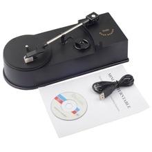 USB Tragbare Mini Vinyl Plattenspieler Player Vinyl Plattenspieler zu MP3/WAV/CD Konverter Mini Phonographen Plattenspieler Rekord EC008 1