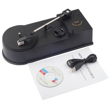 Usb portátil mini vinil turntables jogador vinil turntable para mp3/wav/cd conversor mini fonógrafo turntable registro EC008 1