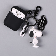 Cute Dog Silicone Case for Apple Airpods Bluetooth Wireless Earphone Accessories 1 2 Case Headset Headphone Protective Cover Bag silicone case for apple airpods accessories protective cover cute bag wireless bluetooth cover mickey diy case with rope hook up