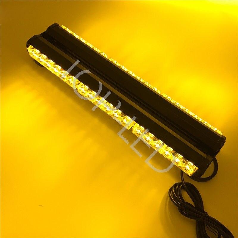 DOUBLE SIDE 72W LED WORK LIGHT BAR BEACON LIGHT WARNING STROBE LIGHT AMBER