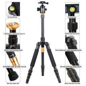 Image 2 - QZSD Q666 Professionale di Magnesio Lega di Alluminio Treppiedi di Macchina Fotografica e Monopiede Per Fotocamere DSLR