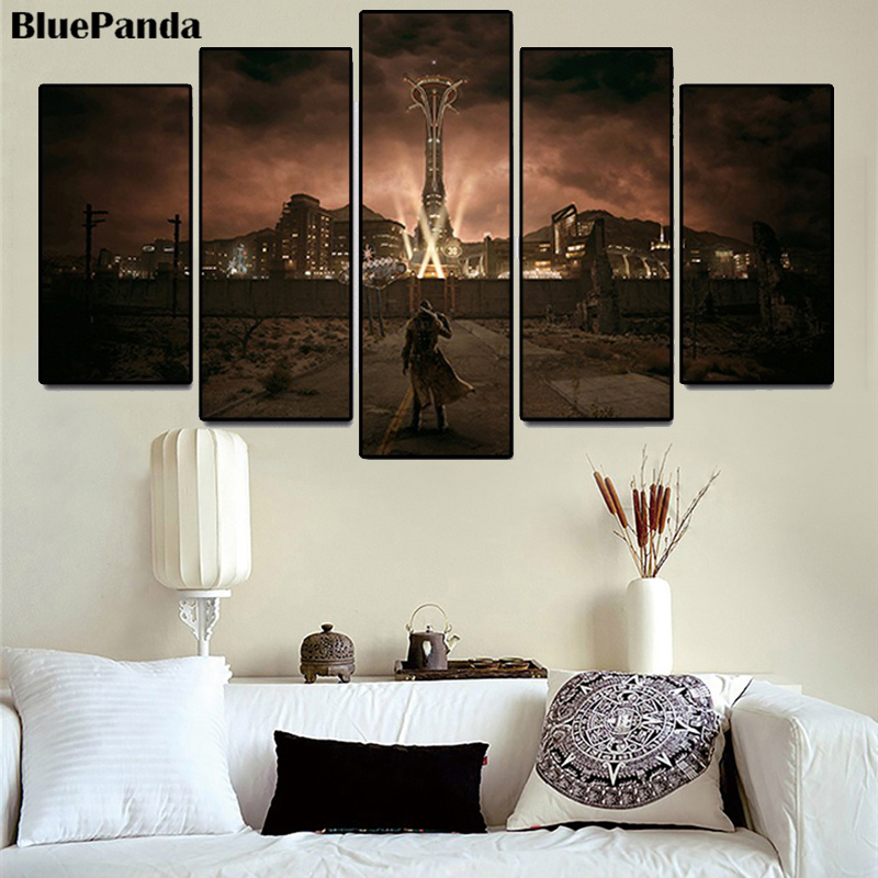 Fallout Game Modern Canvas Painting Decoration Oil Poster Wall Art Picture 5 Pieces For Office Bedroom Home Decor image