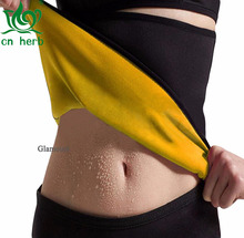 CN Herb Womens Slimming Belt Body Shapers Sweat Waist Cincher for Weight Loss free shipping