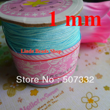 Free shipping 1mm thread cord rope Lake Blue Waxed Bead Cord fit bracelet necklace string 310meter R116 фото