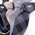 2017 Design de Moda Marca 6 cm gravata laços de algodão para de casamento dos homens listrado partido gravatás magros gravata gravata corbatas T29-2