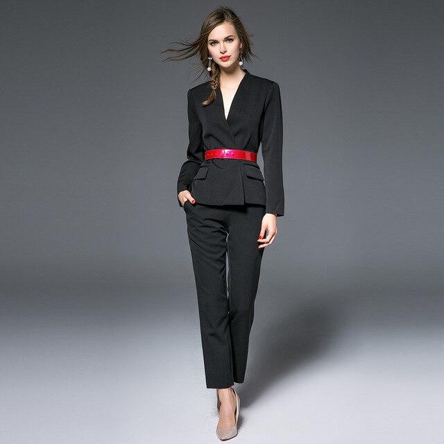 Super Vestiti 2016 delle Donne di Autunno Vestiti Eleganti Pantaloni  FP99